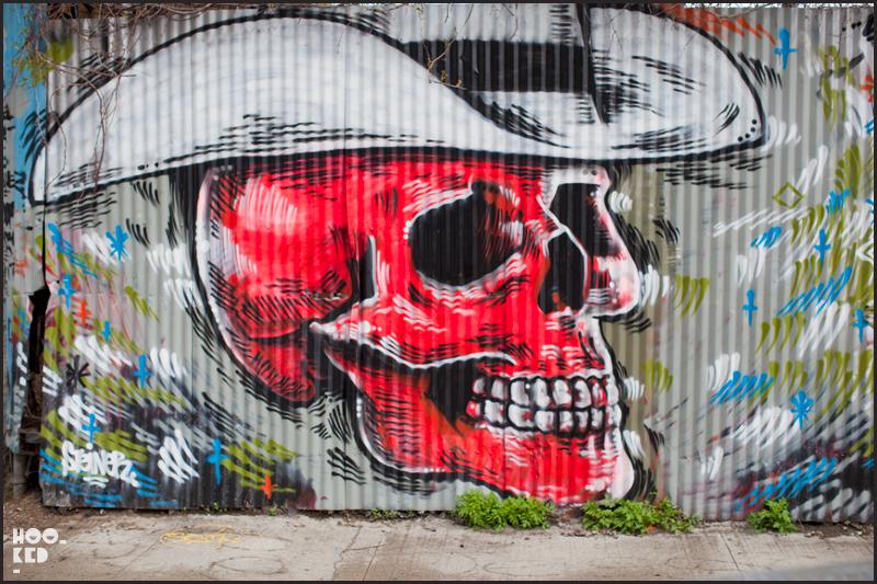 New York Street Art Cowboy Skull Mural