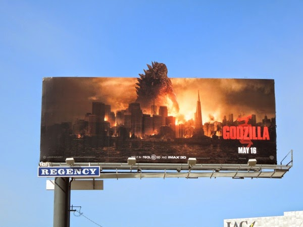 Godzilla special extension movie billboard