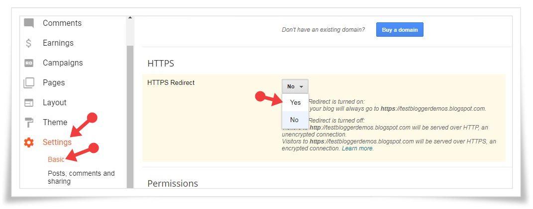 BlogSpot Blog Ki Security Ke Liye HTTPS Enable Kaise Kare