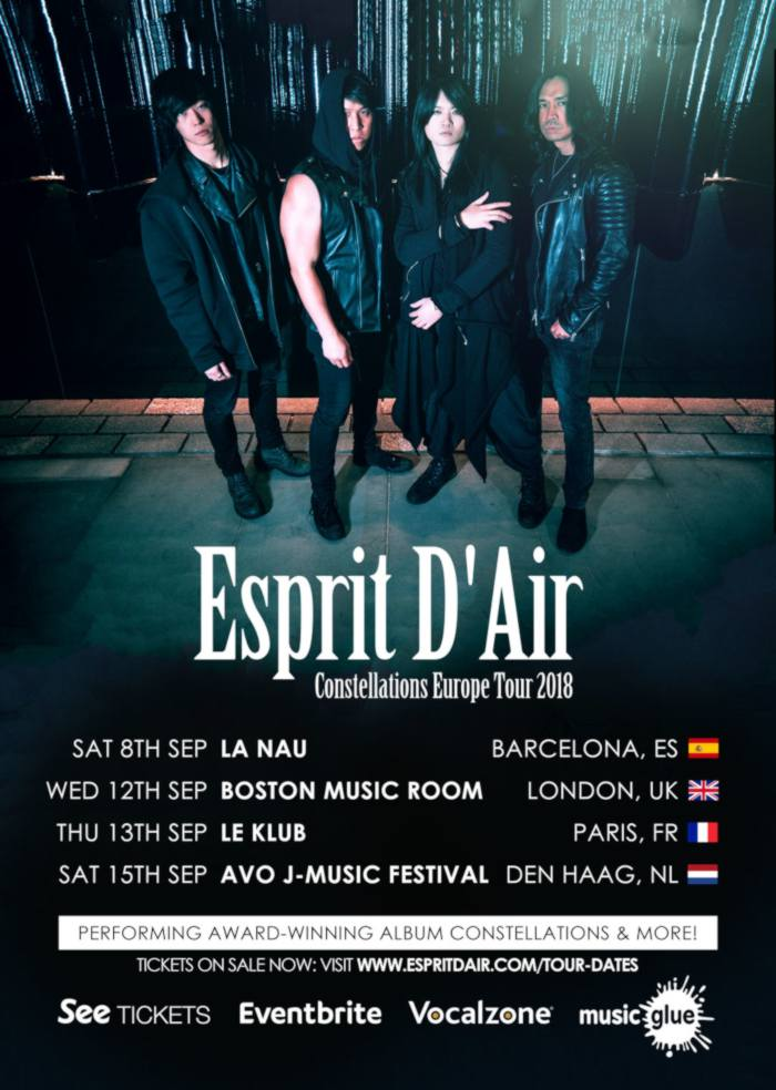 Esprit D'Air Constellations Europe Tour 2018