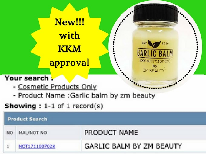 GARLIC BALM BY ZM BEAUTY DAH LULUS KKM