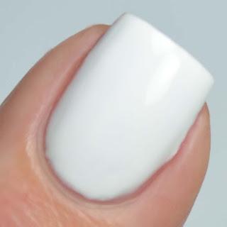 white creme nail polish