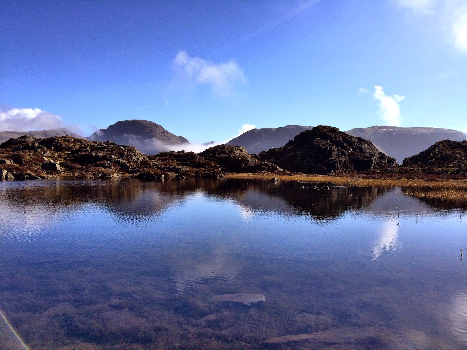 Lake District Cumbria Haystacks Mountain Climbing Walking Innominate tarn