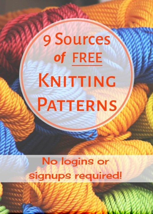 9 Sources of Free Knitting Patterns