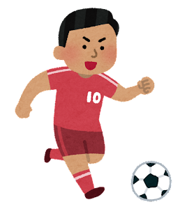 サッカー選手のイラスト(男性・東南アジア人)