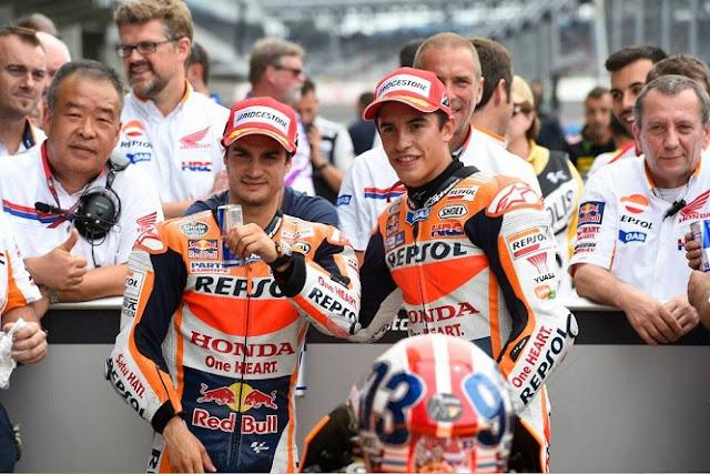 Tidak Seperti Dulu, Kini Honda Samakan Marquez dan Pedrosa