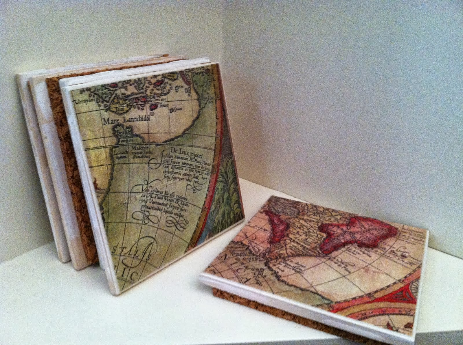 Vintage Old World Map Excerpt Coasters