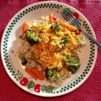 Easy Veggies Rice and Cheese Recipe