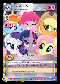 My Little Pony The Mane Six, Party Planners Seaquestria and Beyond CCG Card