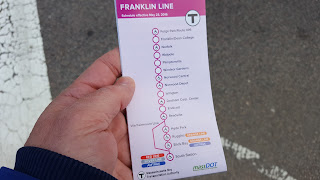 new Franklin LIne schedule effective May 23 was handed out at South Station this week