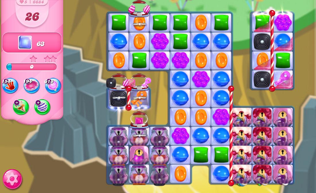 Candy Crush Saga level 6684