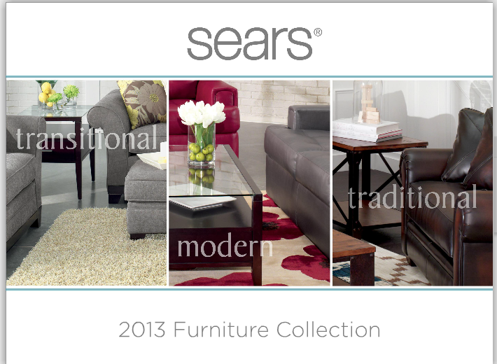 New Year  New Furniture from  Sears  ad   Our Whiskey Lullaby If that sentence rings true for you  it s time to plan for a d    cor upgrade  in 2014  Forget the pricey interior designer  Sears  Furniture Collection