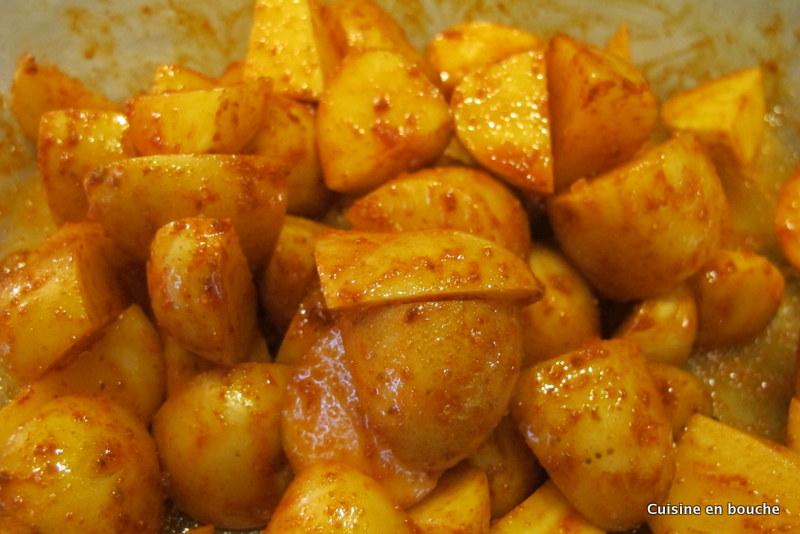 Poulet rôti et ses pommes de terre Marmiton