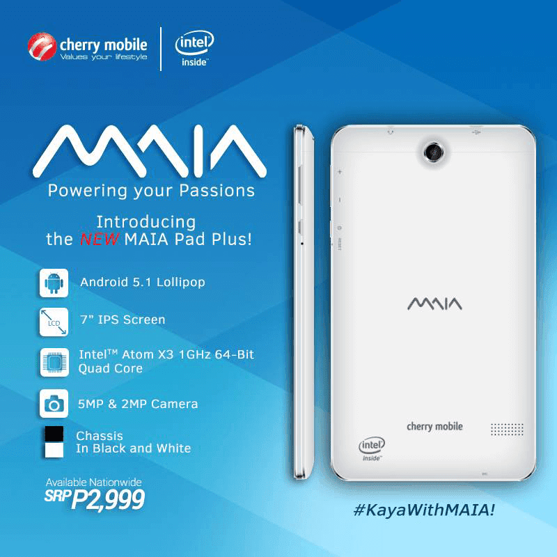 The Upgraded Cherry Mobile MAIA Pad Plus Now Available In Stores! Still Priced At Just 2999 Pesos!