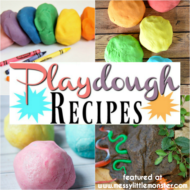 17 of the best DIY playdough recipes for kids to try. We have included everything from an easy no cook playdough recipe to some really unusual play dough recipes. Toddlers and Preschoolers will love exploring these different playdough ideas.