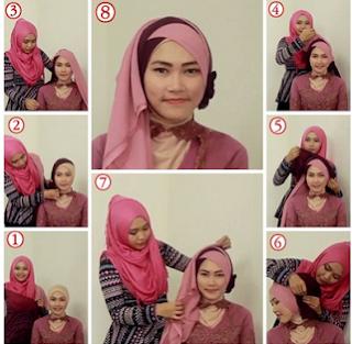 Model hijab untuk wisuda yang kesembilan