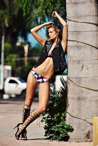 Hot model Kate Bock sexy bikini photo shoot Madame Figaro magazine