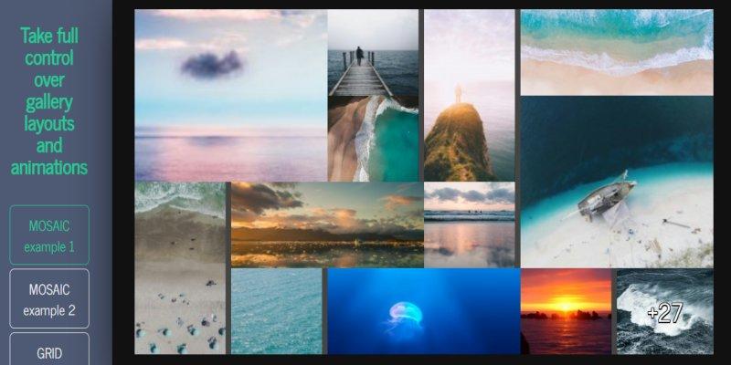 讓相簿圖片在網頁上呈現各種拼貼效果﹍jQuery 畫廊外掛