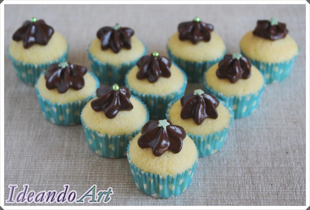 Cupcakes melón con chocolate