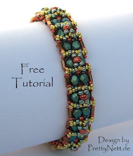 "Free Beading Tutorial for Bracelet ""Oriental"" by PrettyNett.de"