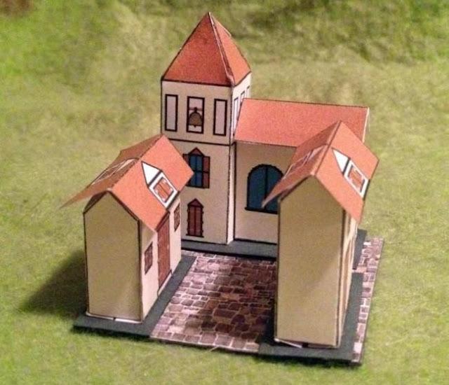 PAPERMAU: Miniature Church Paper Model For Dioramas, RPG