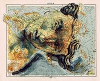 Классическая карта Азии, образ Афродиты, Фернандо Винсенте (Fernando Vicente)