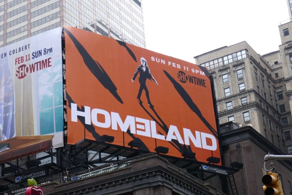 Homeland season 7 billboard Times Square NYC