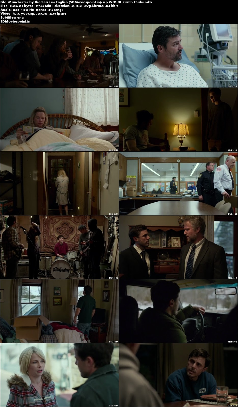Screen Shots Manchester by the Sea (2016) Full English Movie Download