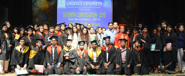 Completed the Convocation at Lingyaj University, Faridabad; 563 students got Degree and Diploma