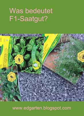 Was bedeutet F1 Saatgut?