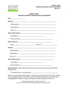 for sale by owner contract form