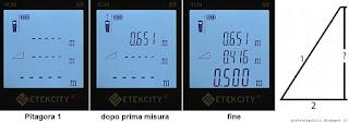 Etekcity Laser Distance Meter S9, misura indiretta
