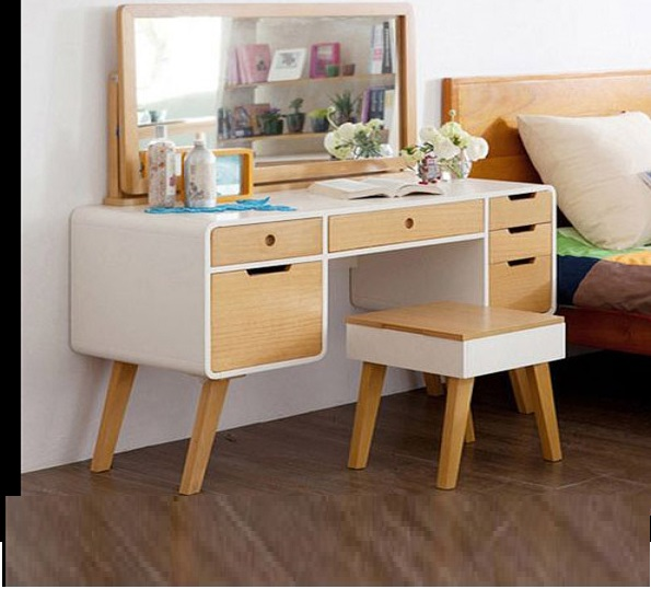 55 modern dressing table designs for bedroom 2018 catalogue for Bed dressing ideas