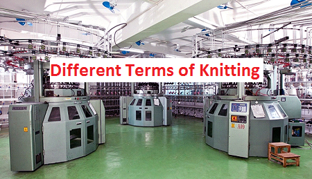 Important terms of knitting
