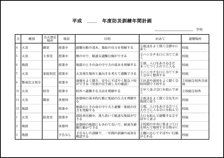 防災訓練年間計画 014