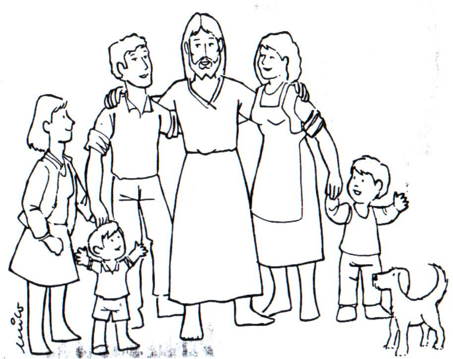 Familia De Jesus Para Colorear Pintando Bonitos Dibujos