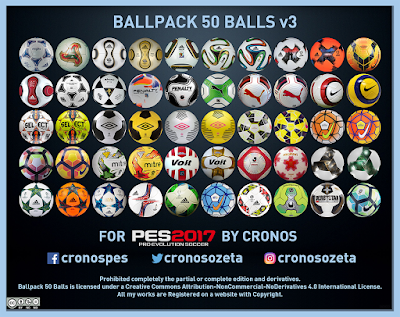 PES 2017 Ballpack 50 Balls by Cronos