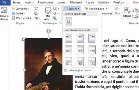 Come gestire il testo e l'immagine in word
