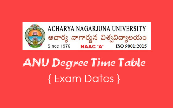 ANU degree time table 2020-2021, Results download