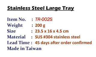Metal tray, stainless steel tray, serving tray