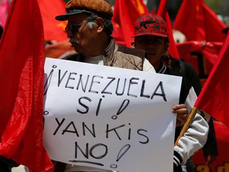 Multitudinaria marcha en Venezuela contra amenaza belicista de EE. UU.