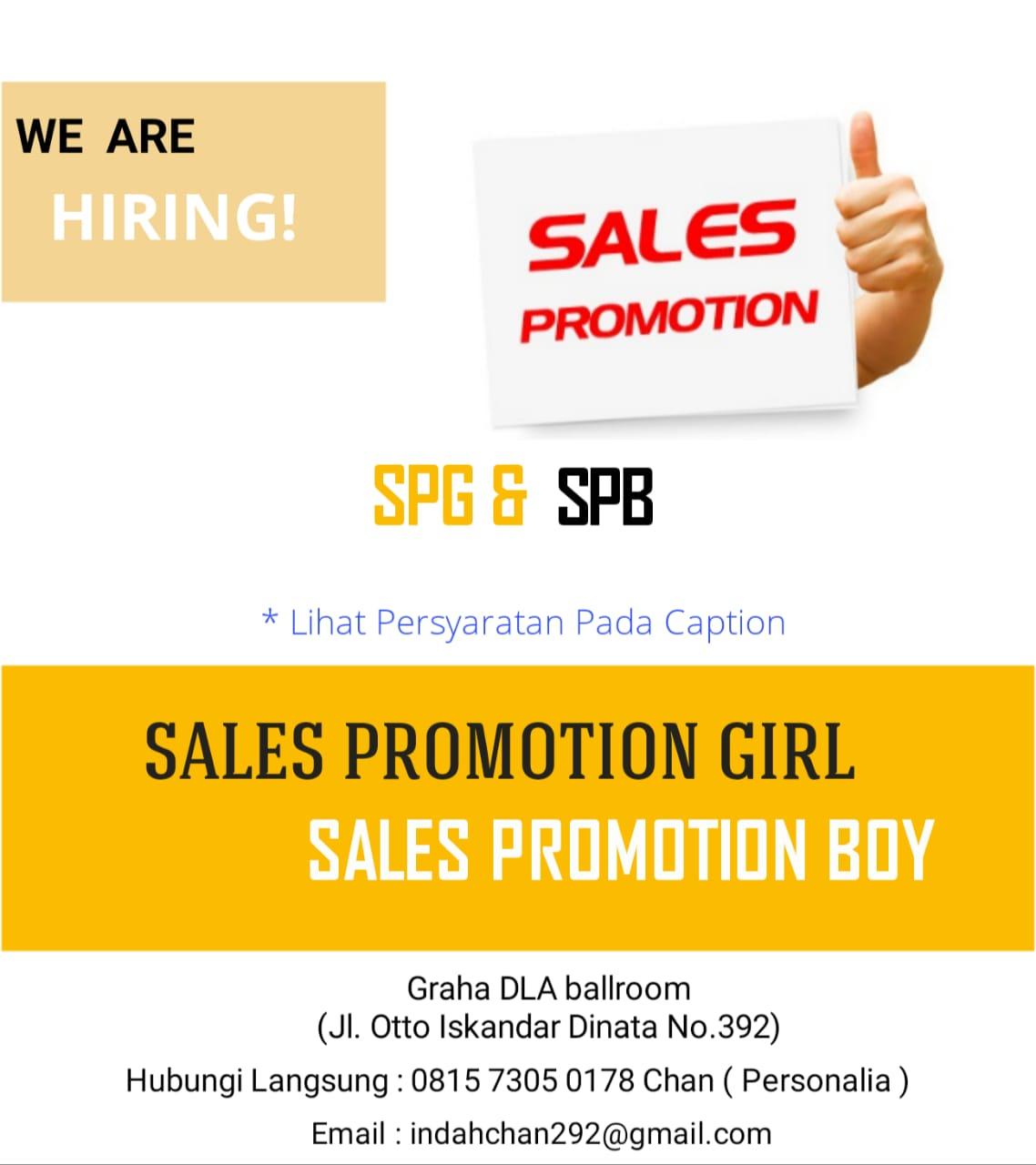 Lowongan Kerja SPG & SPB Bandung Februari 2019