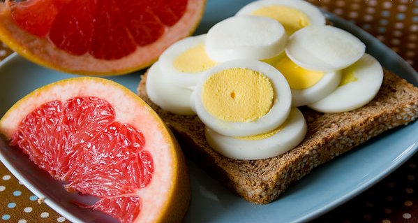 grapefruit and egg