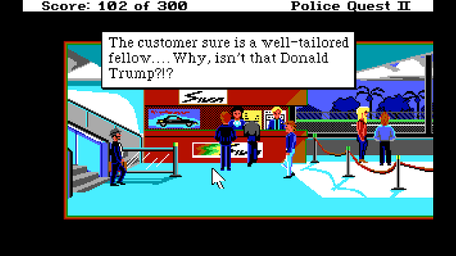 Screenshot from Police Quest 2