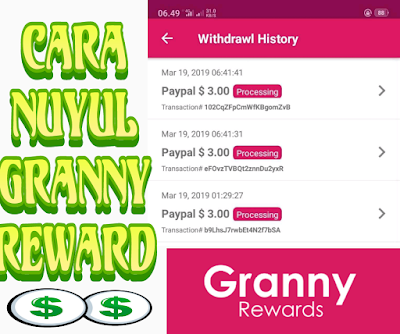 Cara Nuyul Granny Reward Mod Apk Dapatkan Total $9 Gratis Tahun 2019