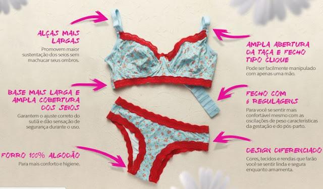 Lingerie para gestantes Maya lingerie materna