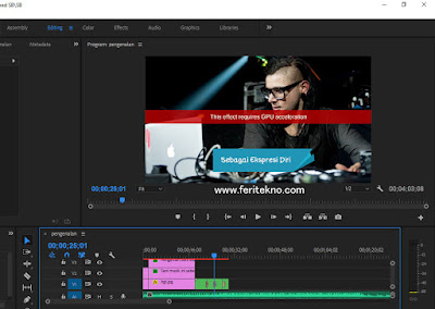 Disini aku ingin curhat sedikit kenapa ketika melaksanakan editing pada software adobe premier Nih Cara Saya Mengatasi This Effect Requires GPU Acceleration di Premiere / After Effect