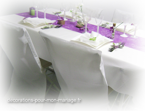 Decoration de mariage couleur prune id es et d - Couleur prune et vert anis ...