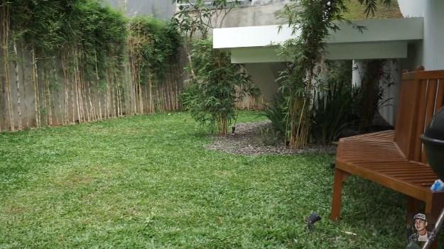 taman rumah minimalis Raditya Dika