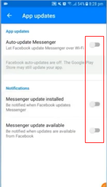 How to turn off auto save pictures in facebook messenger